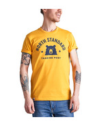 North Standard Trading Post Unisex Varsity Tee Golden Yellow + Navy