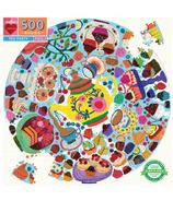 eeBoo Tea Party Round Puzzle