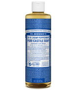 Dr. Bronner's Organic Pure Castile Liquid Soap Peppermint 16 Oz