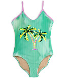 Shade Critters One Piece Swimsuit Flip Sequin Green Stripe Palm Trees