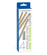 U-Konserve Stainless Steel Mini Straws Set Copper