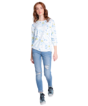 PJ Salvage Smiley Tie Dye Long Sleeve Top Blue