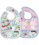 Crocodile Creek Bibs 2 Go with Pouch Backyard Friends