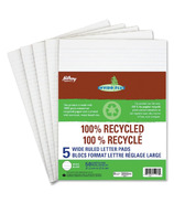 Hilroy 100% Recycled Wide Ruled Letter Pads
