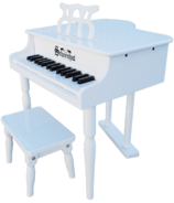 Schoenhut 30 Key Classic Baby Grand Piano White