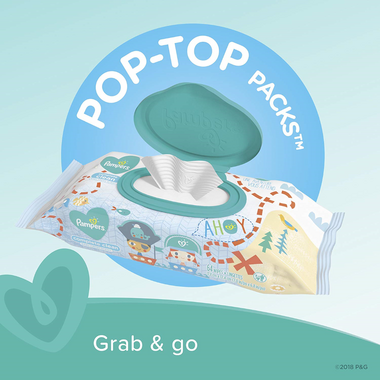 Pampers Baby Wipes Complete Clean Baby Fresh Scent 10 x Pop-Top Packs
