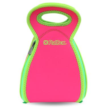 FlatBox Lunch Bag Original Pink Green