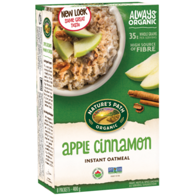 Nature\'s Path Organic Instant Oatmeal Apple Cinnamon
