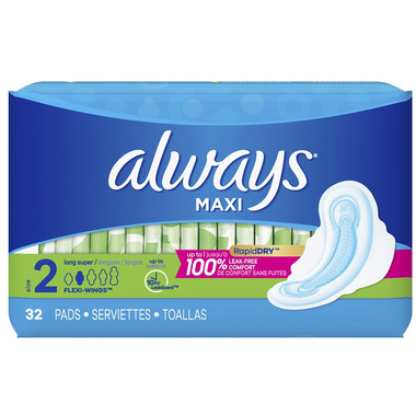 Always Maxi Pads with Wings