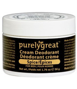 PurelyGreat Cream Deodorant for Men Spice