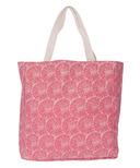 Silver Tree Fuschia Canvas Shopping Bag