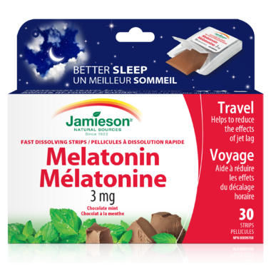 Jamieson Melatonin 3 Strips Chocolate Mint Flavour