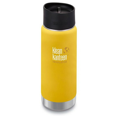 Klean Kanteen Insulated Wide Bottle with Cafe Cap 2.0 Lemon Curry