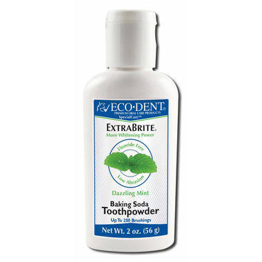 Eco-Dent ExtraBrite Tooth Whitener Baking Soda Toothpowder Dazzling Mint