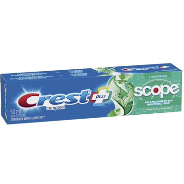 Crest + Scope Complete Whitening Toothpaste Minty Fresh