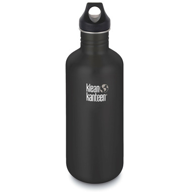Klean Kanteen Classic Bottle with Loop Cap Shale Black