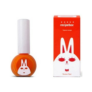 Buy Recipebox Peel Off Nail Polish Tropical Orange From Canada At
