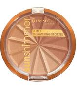 Rimmel London Sunshimmer 3 in 1 Shimmering Bronzer Gold Princess