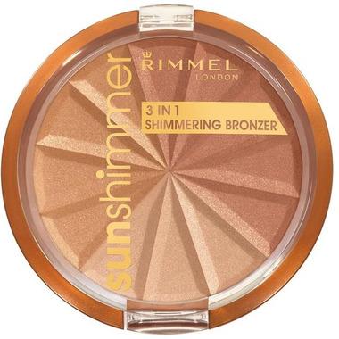 Rimmel London Sunshimmer 3 in 1 Shimmering Bronzer