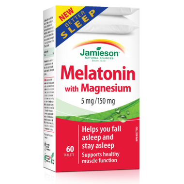 Jamieson Melatonin 5mg + Magnesium