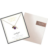 kitsch Cluster Charm Necklace Amethyst