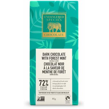 Endangered Species Dark Chocolate Bar with Forest Mint