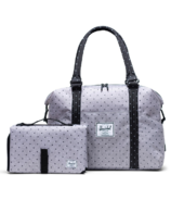 Herschel Supply Strand Sprout Tote with Change Mat Grey & Black Polka Dot