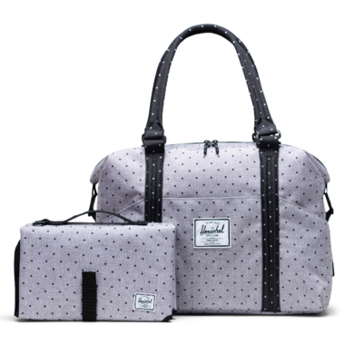 Herschel Supply Strand Sprout Tote Grey & Black Polka Dot