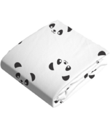 Kushies Bassinet Fitted Sheet Flannel Pandas Black & White