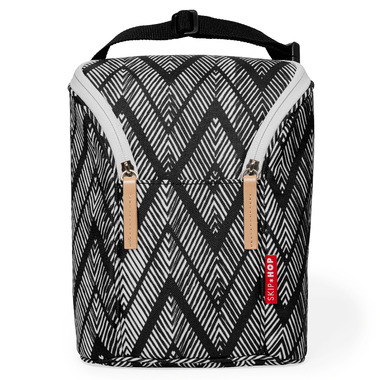 Skip Hop Grab & Go Double Bottle Bag Zig Zag Zebra