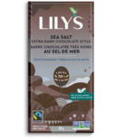 Lily's Sweets Sea Salt Extra Dark Chocolate Style Bar