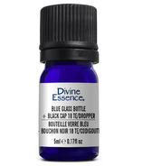 Divine Essence Blue Glass Bottle 5ml