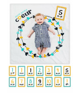Lulujo Baby's First Year Milestone Blanket and Card Set Mon Petit Coeur