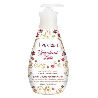 Live Clean Moisturizing Liquid Hand Soap Gingerbread Latte