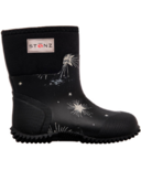 Stonz West Star Glow Print Black Rains Boots