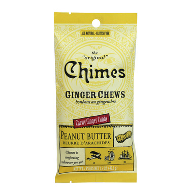 Chimes Peanut Butter Ginger Chews Small Pouch