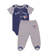Toronto Blue Jays by Snugabye Pajama Set Grey