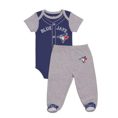 Toronto Blue Jays by Snugabye Pajama Set Grey