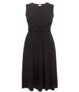 Boob Twist Dress Black