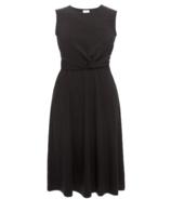 Boob Twist Dress Black