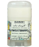 Element Botanicals Sweatshoppe Natureal deodorant Travel Size