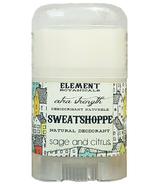 Element Botanicals Sweatshoppe Natureal deodorant Travel Size