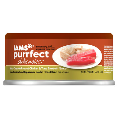 Iams Purrfect Delicacies Cat Food CASE of 24