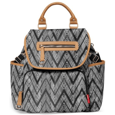 Skip Hop Grand Central Take It All Diaper Bag Backpack Zig Zag Zebra
