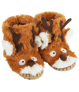 Hatley Little Blue House Kids Slippers Brown Reindeer