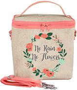 SoYoung Raw Linen No Rain No Flowers Large Cooler Bag