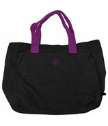 Gaiam Tote Bag and Headband Combo Black/Purple Trim