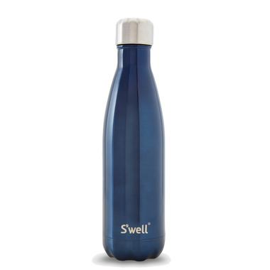 S\'well Shimmer Collection Stainless Steel Water Bottle Blue Suede