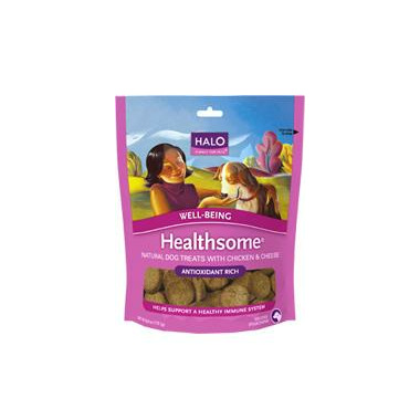 Halo Healthsome Well-Being Dog Treats With Chicken & Cheese