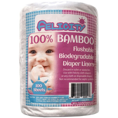 Felicity Bamboo Flushable Biodegradable Diaper Liners